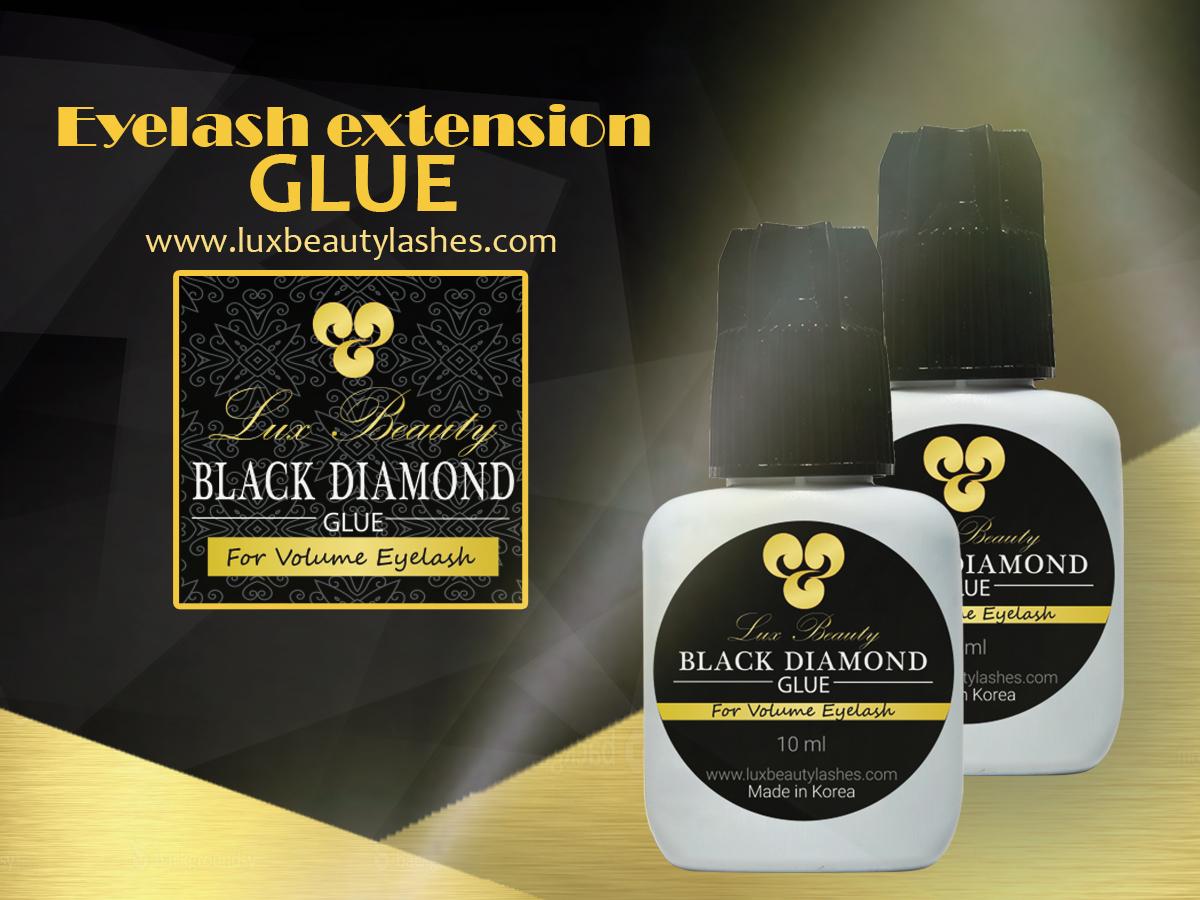 Eyelash glue for volume lashes lux beauty