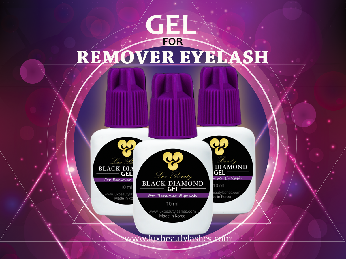 Gel remover lux beauty lashes
